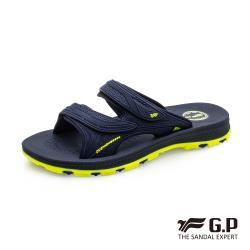 G.P 男款NewType柔軟耐用雙帶拖鞋G0560-藍色(SIZE:37-44 共三色)