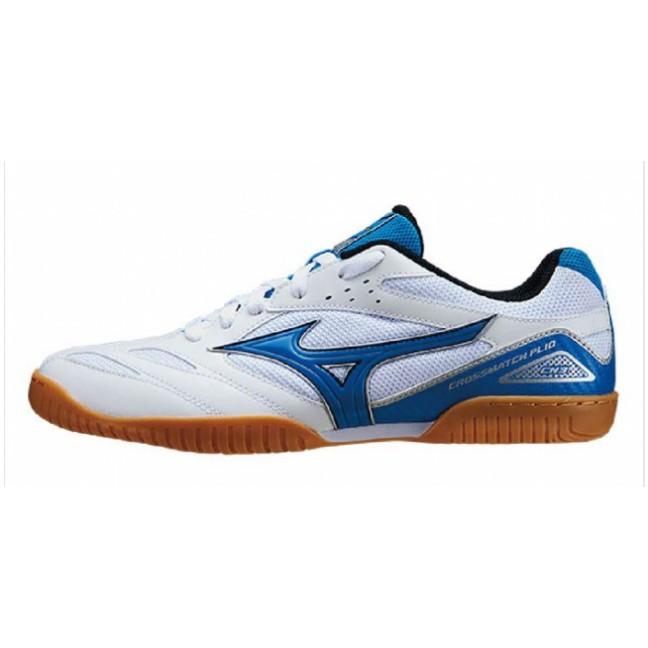 MIZUNO 美津濃 WAVE CROSSMATCH PLIO CN3 男女 桌球鞋 白藍 81GA183627