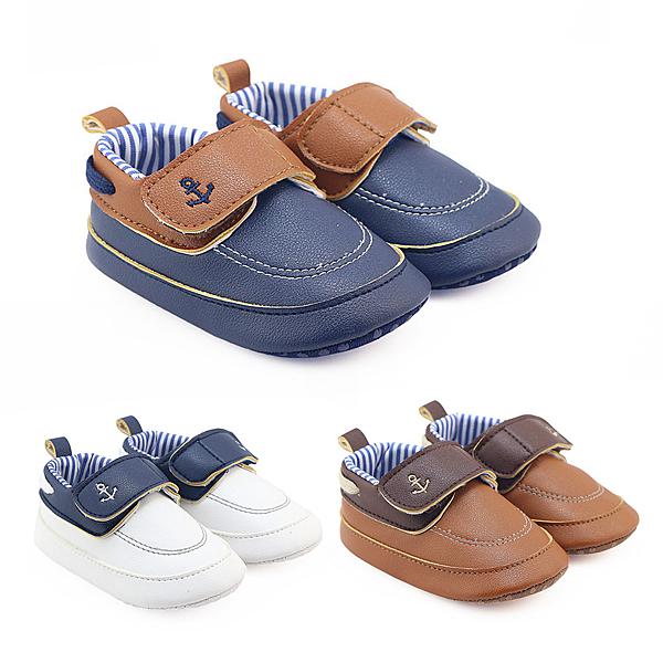 海軍風寶寶紳士鞋 學步鞋 百搭嬰兒鞋 小花童鞋 男寶寶學步鞋 88303