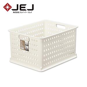 日本JEJ AS BASKET 自由組合整理籃/#3米色 2入