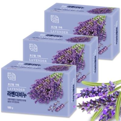 韓國 MKH無窮花 薰衣草保濕美肌香皂 3入