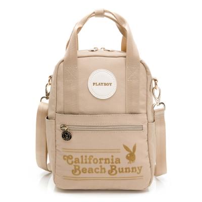 PLAYBOY 後背包 可肩背 California Bunny系列 米黃色 501-5901-26-8