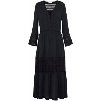 《セール開催中》REBECCA MINKOFF レディース 7分丈ワンピース・ドレス ブラック S ポリエステル 100%