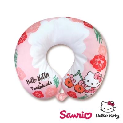 Hello Kitty x 熱帶水果鳥 超可愛聯名款 U型枕 頸枕 午安枕 抱枕 靠枕 多用途