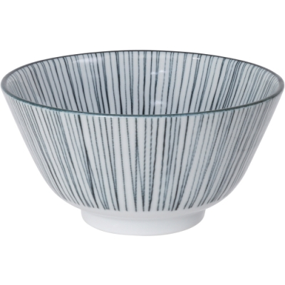《Tokyo Design》瓷製餐碗(線紋黑12cm)