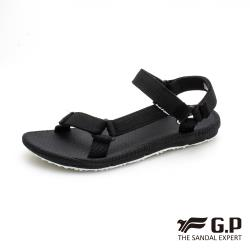 G.P 女款輕量簡約舒適織帶涼鞋G0753W-黑色(SIZE:36-39 共二色)