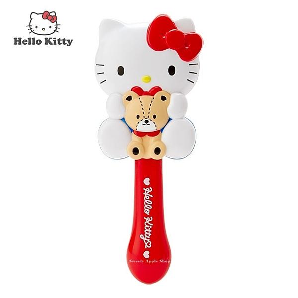 日本限定 三麗鷗 HELLO KITTY 凱蒂貓 &泰迪小熊 髮梳 梳子