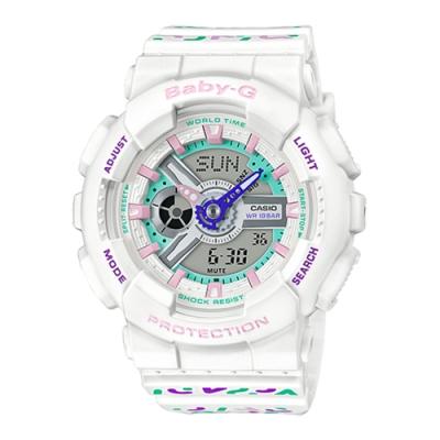 CASIO卡西歐BABY-G質感標準雙顯指針腕錶-繽紛色彩(BA-110TH-7A)