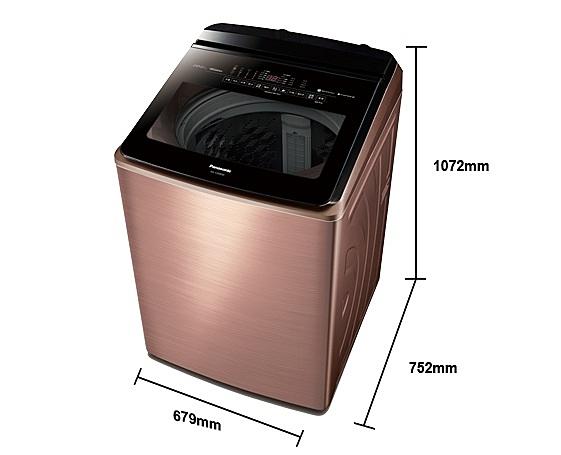《Panasonic 國際牌》nanoe 20公斤 直立式變頻 溫水 雙效自動槽洗淨洗衣機 NA-V200EBS-B(薔薇金)