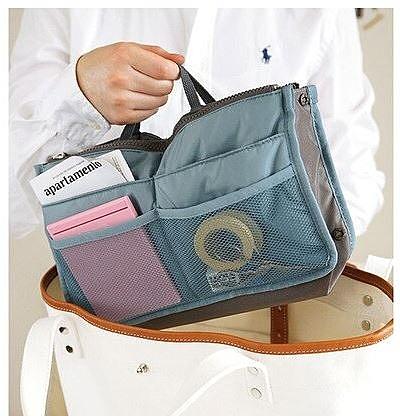 Qmishop 韓版防水雙拉式多功能收納包中包 化妝包 旅行袋【J597】Z