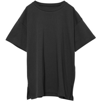 リエディ Re: EDIT [人と地球に優しい]シンプルビッグTシャツ (ブラック)