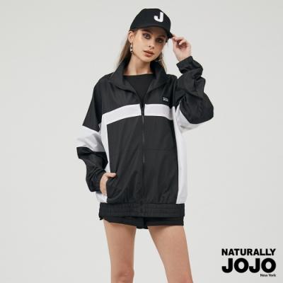 【NATURALLY JOJO】原創拼接風衣外套 (黑)