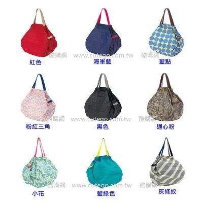【酷購Cutego】(現貨) 日本設計大賞 Shupatto 輕巧時尚 秒收環保購物袋 (藍點圖案)(中)