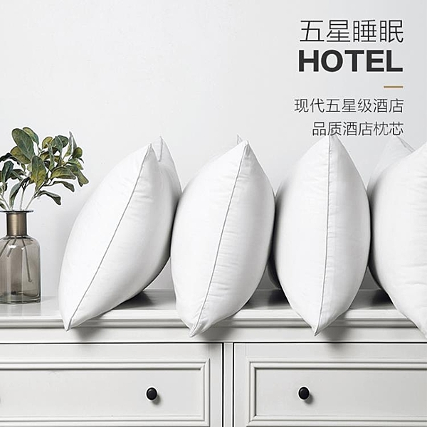 枕頭 一對裝枕芯成人情侶家用酒店羽絲絨單人學生