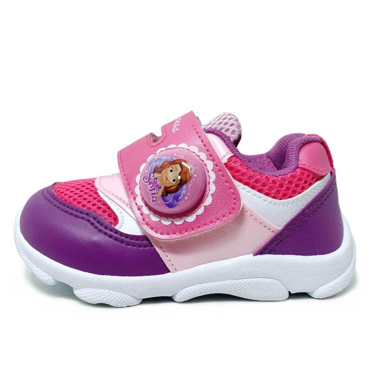 【滿額再折$100】蘇菲亞小公主電燈造型運動休閒鞋 [87602] 桃紫 MIT台灣製造【巷子屋】