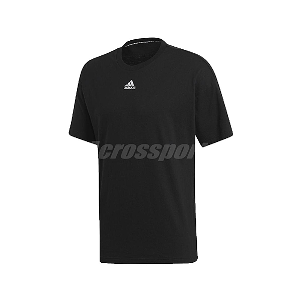 adidas 短袖T恤 Must Haves 3-Stripes Tee 黑 白 男款 短T 運動休閒 【ACS】 EB5277