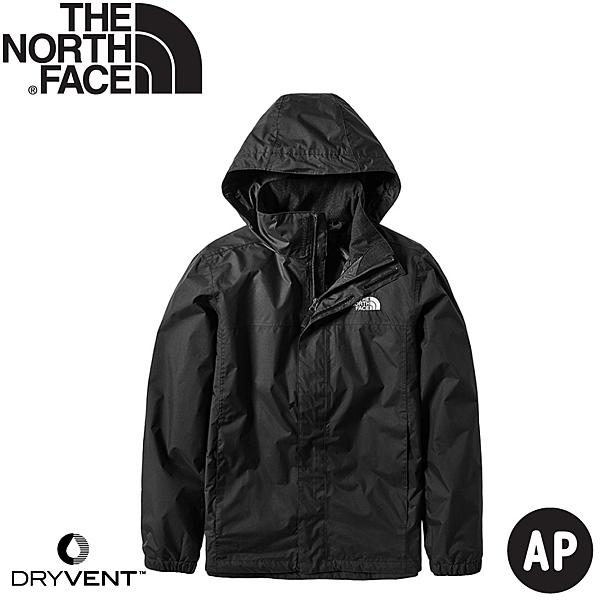 The North Face 北面  男  防水透氣衝鋒外套 黑  NF0A49F7JK3