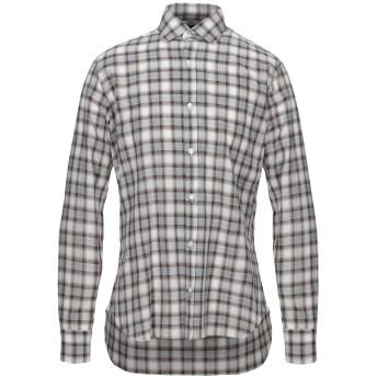《セール開催中》BARBA Napoli メンズ シャツ グレー 39 コットン 100%