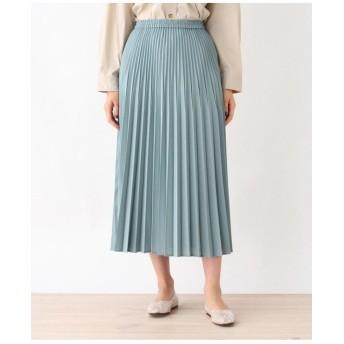 リネンライク変形プリーツスカート