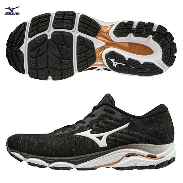 MIZUNO WAVE INSPIRE16 WAVEKNIT 男鞋 慢跑 耐磨 避震 支撐 輕量 黑【運動世界】J1GC201301