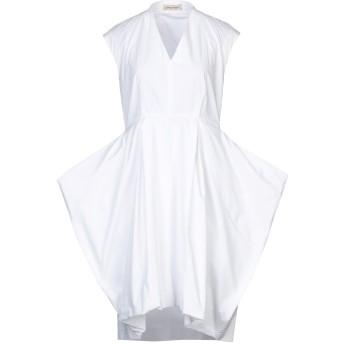 《セール開催中》GENTRYPORTOFINO レディース ミニワンピース&ドレス ホワイト 44 コットン 100%