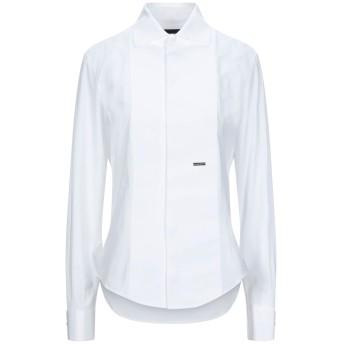 《セール開催中》DSQUARED2 レディース シャツ ホワイト 38 コットン 96% / ポリウレタン 4%