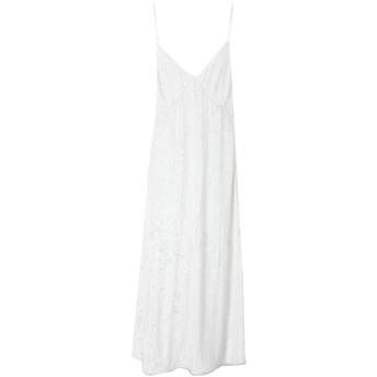 《セール開催中》MAGDA BUTRYM レディース ロングワンピース&ドレス ホワイト 38 レーヨン 100%