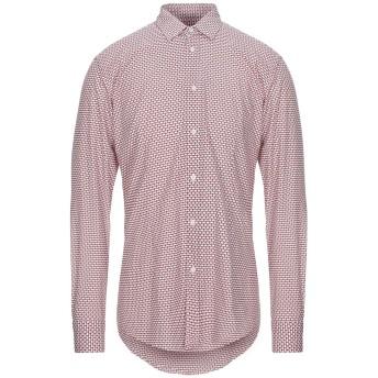 《セール開催中》GREY DANIELE ALESSANDRINI メンズ シャツ レッド 40 コットン 97% / ポリウレタン 3%