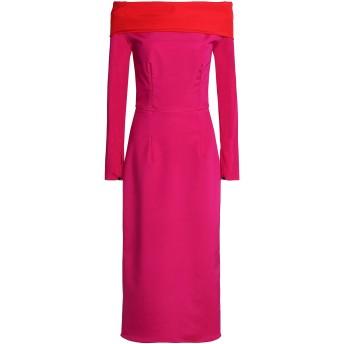 《セール開催中》EMILIO de la MORENA レディース 7分丈ワンピース・ドレス フューシャ 6 シルク 95% / ポリウレタン 5%
