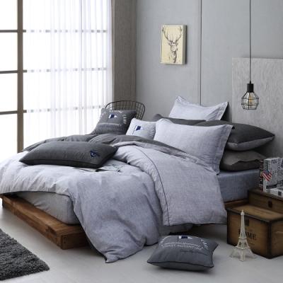 OLIVIA  LUCAS 雙色 標準雙人床包冬夏兩用被套四件組 200織精梳純棉 台灣製