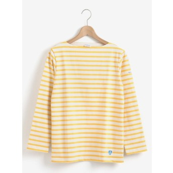 le. coeur blanc ORCIVAL COTTON LOURD ボーダーTシャツ(イエロー)