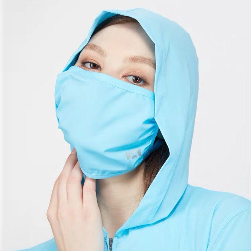 【HOII后益】防曬經典復刻素面口罩-一般款-藍