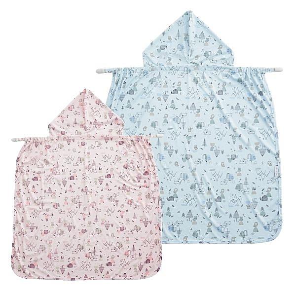 奇哥 涼感抗UV揹巾披風(粉/藍)