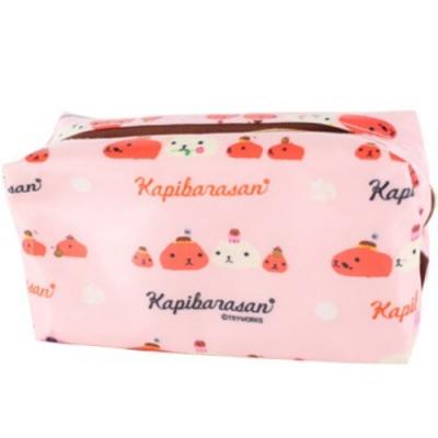 水豚君甜點系列化妝包。粉色kapibarasan
