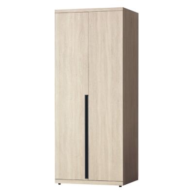 Boden-維森2.7尺二門衣櫃(二吊桿)-80x57x202