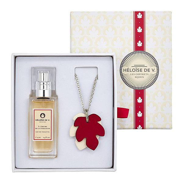 【HELOISE DE V. 愛洛伊斯】摘花時刻 淡香水+擴香石項鍊 禮盒組