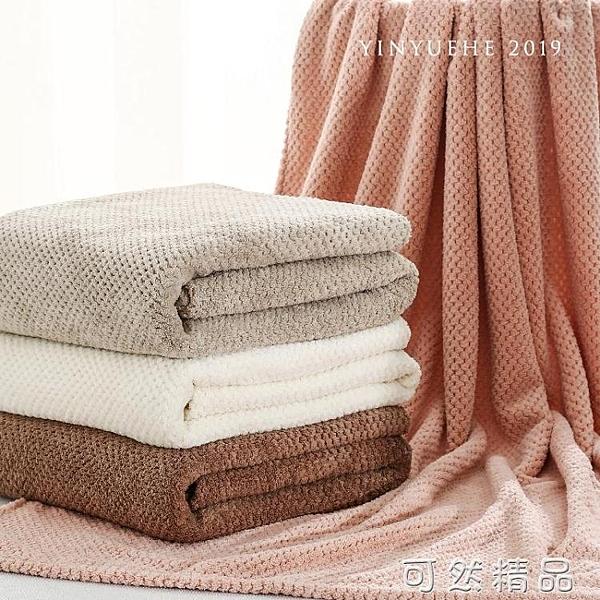 菠蘿格全身浴巾度假沙灘大浴巾超細纖維珊瑚絨裹巾 雙12全館免運