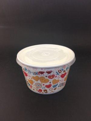 【免洗餐具】《260紙湯杯》 紙碗 湯碗 免洗碗『圖案隨機』(50個/條)