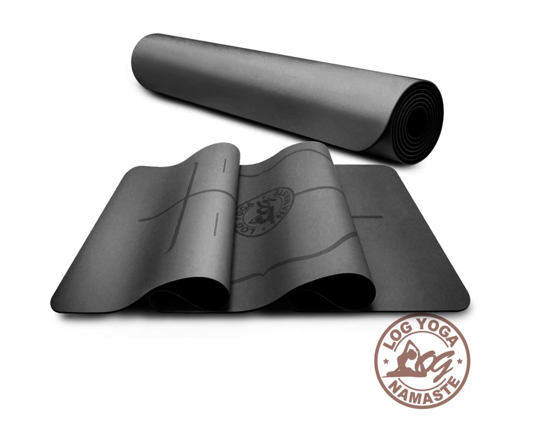 LOG YOGA 樂格 PU環保天然橡膠 專業款瑜珈墊 -黑色