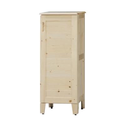 柏蒂家居-凱米1.4尺單門實木鞋櫃-42x36x108cm