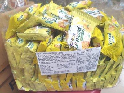 優選糖果餅乾~雷蒙德檸檬夾心餅乾3000公克550元~另有600公克裝。