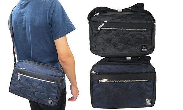 ~雪黛屋~SPYWALK 斜側包中容量二層主袋+外袋共五層8吋平板進口防水尼龍布肩背斜側背SD1779