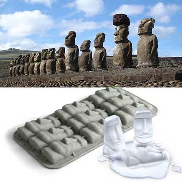 [拉拉百貨]復活島石像製冰盒 摩艾造型 矽膠模具 巨石像 香磚模 石膏模 矽膠皂模 冰塊模