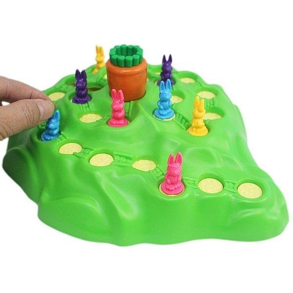 桌遊兔子越野賽 兔子搶蘿蔔 707-5/一個入(促230) 兔子陷兒童益智賽跑棋 家庭聚會互動桌遊 -CF77784