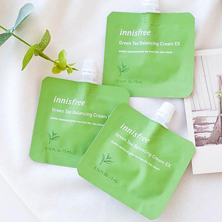 韓國 innisfree 綠茶水平衡面霜 5ml 保濕霜 乳霜 面霜 保濕 綠茶面霜 旅行組 小包裝