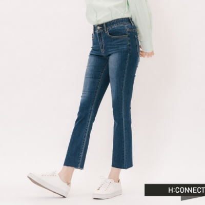 H:CONNECT 韓國品牌 女裝 -微彈顯瘦靴型褲-藍