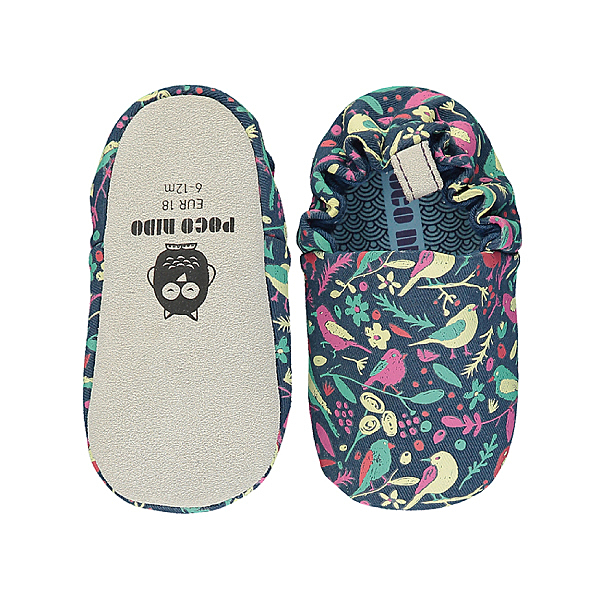 英國POCONIDO 手工鞋|嬰兒鞋|學步鞋-鳥語花香 (6~24M)