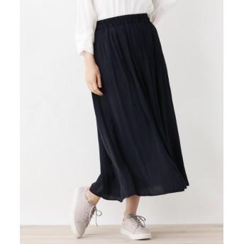 SHOO・LA・RUE/DRESKIP(シューラルー/ドレスキップ) 【M-LL】ナイルサテンギャザースカート