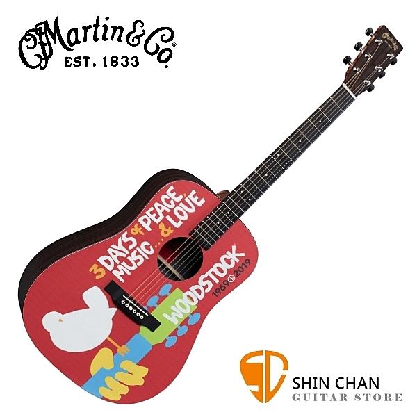 Martin DX WOODSTOCK 50th 可插電民謠吉他/電木吉他 50週年限量彩繪款 原廠公司貨