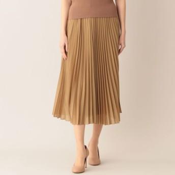 【ポール・スチュアート ウィメン(Paul Stuart WOMEN)】 【ウォッシャブル】エアリーローン スカート キャメル